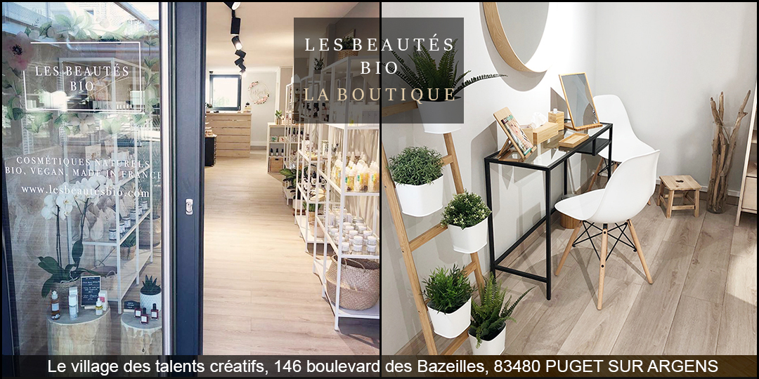 Les beautés bio - la boutique